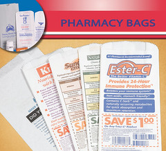 pharmacy-drug-prescription-bag-bags (bigvalleypackaging) Tags: paper bag printed pharmacy pharmaceutical dispensary medical marijuana drug printers logo white bakery optical eyeglasses store shop