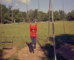 Swinging Fool (spablab) Tags: 126film 126 sean indianabeach indiana swing swinging