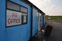 (Sam Tait) Tags: shakespeare raceway avon park long marston derelict urbex abandoned dragstrip drag strip england closed shut pit office sign signing stratford upon county racing dragster track blacktop 2 lane rip shakey memories warwickshire sunny easter monday
