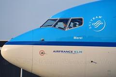 """Merel / Blackbird"" KLM Royal Dutch Airlines PH-BXN Boeing 737-8K2 Winglets cn/30356-728 @ Taxiway Q EHAM / AMS 06-06-2016 (Nabil Molinari Photography) Tags: merelblackbird klm royal dutch airlines phbxn boeing 7378k2 winglets cn30356728 taxiway q eham ams 06062016"