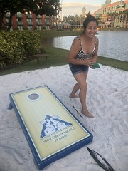 Playing some corn hole at the Dolphin Hotel in Disney World (Hazboy) Tags: 2018 september florida world disney hotel dolphin game hole corn cornhole hazboy1 hazboy