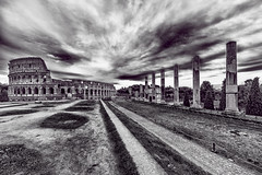 Colosseum (Andrew Brammall Photography) Tags: eternalcity forum colosseum rome roma arena blackandwhite gladiator italy