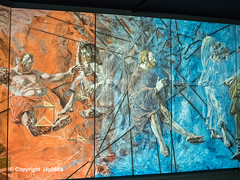 "Detail of ""Panta Rhei - All Things are in Flux"" Mural (1978-79) by Hans Erni, Hans Erni Museum Auditorium, Lucerne, Switzerland (jag9889) Tags: 2019 20190417 art artwork artist auditorium ch cantonlucerne cantonoflucerne centralswitzerland erni europe exhibit hanserni helvetia indoor innerschweiz kantonluzern lu lozärn lucerne luzern mural museum painter schweiz stadtluzern suisse suiza suizra svizzera swiss swissmuseumoftransport switzerland transport transportationhouseofswitzerland verkehrshaus verkehrshausderschweiz zentralschweiz jag9889"