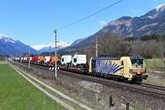 193 777, TEC 41856. Lendorf (Pusarnitz Süd) (M. Kolenig) Tags: lokomotion tauernbahn 193 777 himmel honig k