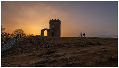 2 Lovers admiring the Sunset. (Ian Emerson (Thanks for all the comments and faves) Tags: leicestershire sunset canon6d countrypark oldjohn bradgatepark lovers countryside monument landscape outdoor evening goldenglow rocks clouds architecture arch