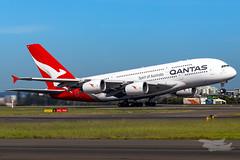 VH-OQC QF A380 34L YSSY-8719 (A u s s i e P o m m) Tags: sydney newsouthwales australia qantas qf qfa airbus a380 syd yssy sydneyairport