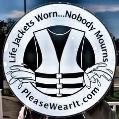 Life Jackets Worn... (Timothy Valentine) Tags: decal squaredcircle 0419 large capecodcanal 2019 door sandwich massachusetts unitedstatesofamerica