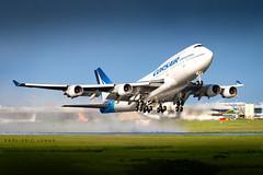 F-HSEA - Corsair 747-400   ORY (Karl-Eric Lenne) Tags: fhsea corsair boeing 747 747400 744 ory lfpo orly aéroport landing takeoff rain