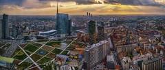 Volando su Milano (Fil.ippo) Tags: milano milan cityscape gaeaulenti unicredit palazzo tower fuji xt2 photomerge filippobianchi filippo boscoverticale verticalforest parcobibliotecadeglialberi park sky clouds