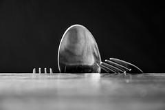tough climb (englishgolfer) Tags: cutlery spoon fork black white climb nikon d7500 tamron 1750mm