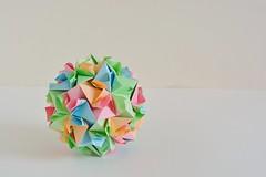 Nicea Kusudama (Byriah Loper) (Byriah Loper) Tags: origami origamimodular byriahloper byriah paperfolding paper polygon polyhedron square kusudama