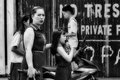 Private (Beegee49) Tags: street people mother daughter shock concern walking blackandwhite monochrome luminar sony a6000 bw bacolod city philippines asia happyplanet asiafavorites
