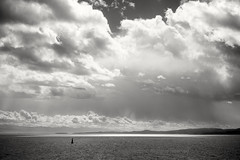 Pacific storm (L@nce (ランス)) Tags: clouds cloudy storm sky skyscape monochrome bw nikkor nikon micro seascape juandefuca salish salishsea victoria britishcolumbia brotchie ledge lighthouse