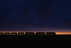 Sunset silhouette south of Bill (Moffat Road) Tags: bnsf coaltrain silhouette powderriverbasin orinline train railroad locomotive ge ac4400cw sunset bill wyoming wy
