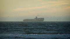 Headed To Sea (AAcerbo) Tags: oceanbeach pacificocean sanfrancisco california ocean sea ship boat vessel sunset horizon