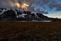 Tilicho Lake. Nepal. Himalaya. (YogiMik) Tags: annapurna range 5000 m above sea level the highest altitude lake world travel landscape blue sky clouds stones mountains great barrier himalaya