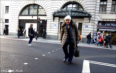 `2613 (roll the dice) Tags: london westminster w1 marylebone streetphotography people fashion mad sad fun funny happy smile surreal shopping shops urban unaware unknown england uk classic canon tourism tourists traffic portrait stranger candid reaction dark shadows danger natural old pensioner crossing wisdom bakerstreet holmes cold weather slow lonely