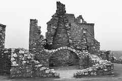 Dunnottar Castle - Stonehaven Aberdeenshire Scotland - 24/04/2019 (DanoAberdeen) Tags: olddays ancient rock silurian stonehaven dunnottar dunnottarcastle oldtimer vintage heritage neglected neglect weathered ruins scottish preservation conservation castleruins castle 2019 amateur candid danoaberdeen bw blackandwhite