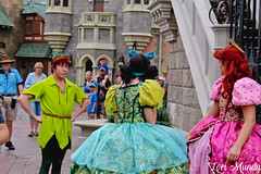 Anastasia, Drizella, and Peter Pan (disneylori) Tags: peterpan anastasia drizella cinderella stepsisters disneyvillains villains disneycharacters facecharacters meetandgreetcharacters characters fantasyland magickingdom waltdisneyworld disneyworld wdw disney