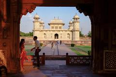 Mini Taj (realstephenwhite) Tags: archway sunset tomb architecture historic travel india mughal fujifilm marble mausoleum agra ititmaduddaulah xe2 minitaj
