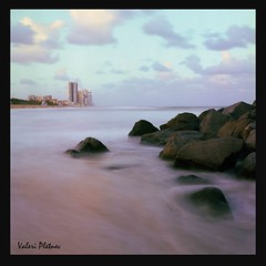 HALLOWER PARK , FLORIDA (Valeri Pletnev) Tags: 120mm 6x6 film nature landscape waterscape ocean shore beach sunset florida miami kodak rolleiflex 6008 80mm 28 planar
