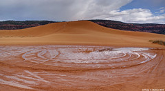 Dunes in the rain (walkerross42) Tags: sanddune dune rain water tracks circles coralpinksanddunes statepark utah sand clouds storm