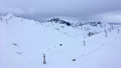 Alpine engineering (kcorrick) Tags: engineering pylon skiing france italy alps montblanc snow winter mountains tarentaise