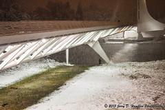 Rare Snow on the Sundial (Jerry Hamblen) Tags: sundialbridge bridge sacramentoriver redding california river sacramento snow night