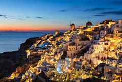 _MG_9595 - Oia mountside in blue hour (AlexDROP) Tags: 2017 europe greece santorini oia greek sea travel color city urban cityscape bluehour architecture mill skyline canon6d ef241054lis best iconic famous mustsee picturesque postcard
