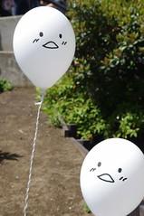 Hello こんにちは (runslikethewind83) Tags: japan balloon face expression fun hello balloons float pentax yokohama 風船 顔