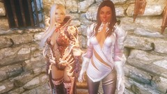 TESV - Valeria and Salsa (tend2it) Tags: kenb elder scrolls skyrim v rpg game pc screenshot screenarchery mods valeria lunari race