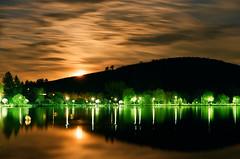Lazy Moonrise (sárkánymacska) Tags: fishing élet fűzfa zuiko50mm12 olympus om2n zuiko kodak pro image 100 lake moon moonrise holdkelte telihold srping tavasz tó forest nature erdő természet night lights éjszakai fények analog film