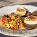 Vegetable dish Ratatui, dark bread