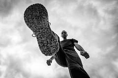 PC Load Letter (Nicholas Erwin) Tags: perspective pov foot shoe me selfportrait selfie nicholaserwin nickerwin blackandwhite monochrome bw mono person human man guy sky cloudy fujifilmxt2 fujixt2 xf1024mmf4rois xf1024 fuji1024