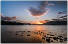 Kitchen Bay Sunrise, Derwentwater (muddybootsuk) Tags: derwentwater sunrise dawn water reflection clouds spring dark mountains blencathra lakedistrict cumbria d850 nikond850 nikon unitedkingdom greatbritain england north northern grimupnorth kitchenbay