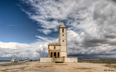 Días de tormenta en el Cabo (Cabo de Gata-Almería) (Jose Manuel Cano) Tags: tormenta storm gata cabodegata almería españa spain mar sea nube cloud cielo sky iglesia church color colour nikond5100