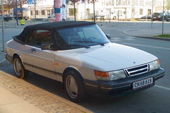 Saab 900 convertable CH68618 still on the roads of Denmark (sms88aec) Tags: saab 900 convertable ch68618 still roads denmark