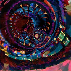 i have a plan... (Mark Noack) Tags: light color photoshop layer layering surreal expressionism abstract psychedelic futurist abstraction