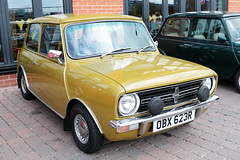 1977 Leyland Mini Clubman OBX623R Lincoln Big Mini Day 2019 (davidseall) Tags: 1977 leyland mini clubman car obx623r obx 623r austin bl blmc classic old shape style original great british lincoln big day 2019 front fronted