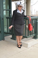 Once Upon A Time, I Would Have Not Seemed Out-Of-Place On An Easter Sunday (Laurette Victoria) Tags: purse hat sunglasses suit laurette woman milwaukee downtown