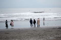 片瀬西浜 (Yamashita, K.) Tags: fujifilmxt3 fujinonxf56mmf12 藤沢 fujisawa 片瀬海岸 katasekaigan 海 sea
