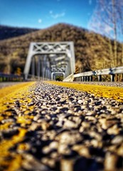 Ready to hit the road (LAKAN346) Tags: weekend holiday adventure fun spurifthemoment bokeh lineofsight light dof outdoors pennsylvania road bridges sunshine sunny yellow spring scenic mountains backdrop