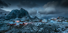Hamnoy - Lofoten (jerry_lake) Tags: lightroom57 lofoten norway mountains snow sunset twilight hamnoy