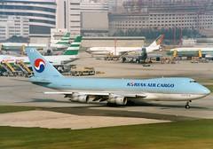 KAL at Kai Tak (Gerry Rudman) Tags: korean airlines cargo boeing 7472b5scd hl7452 hong kong kai tak may 1994