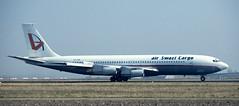 B707 | 3D-ASB | AMS | 19900318 (Wally.H) Tags: boeing 707 boeing707 b707 3dasb airswazicargo ams eham amsterdam schiphol airport