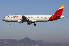 EC-JRE | Iberia | Airbus A321-211 | CN 2756 | Built 2006 | BCN/LEBL 29/03/2017 (Mick Planespotter) Tags: aircraft airport 2017 ecjre iberia airbus a321211 2756 2006 bcn a321 lebl 29032017 flight elprat barcelona nik sharpenerpro3