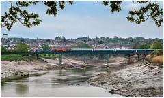 Framed (Mark Gowing) Tags: 67022 class67 wag stjuliansrailbridge newport riverusk