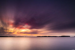 Layered sky (Rico the noob) Tags: 2018 d850 landscape sunset finland water outdoor lake clouds trees tree travel forest published horizon sky dof 20mm 20mmf18 longexposure nature