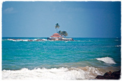 The Lure of Sri Lanka (The Spirit of the World ( On and Off)) Tags: sea ocean indianocean waves bluewaters rocks sand coastline seascape beach house landscape westerncoast srilanka serendipity ceylon peaceful tropical paradise postcard