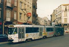 STIB-T55-2572-7948-28-12-1991 (phi5104) Tags: trams belgië belgique brussel bruxelles mivb stib ligne55